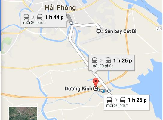 xe đưa đón sân bay Cát Bi Dương Kinh
