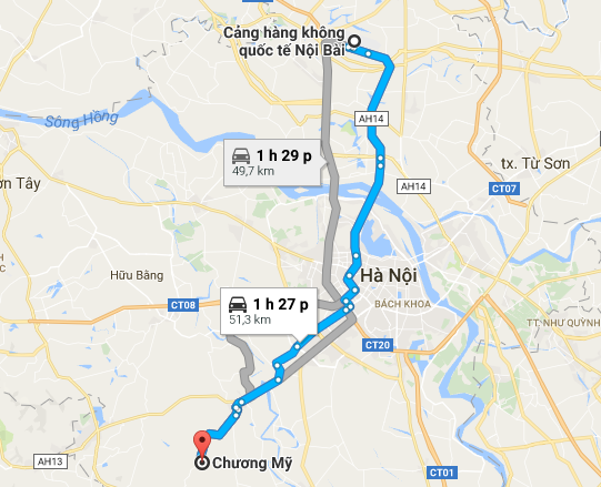 khoang-cach-nb-chuong-my-52km