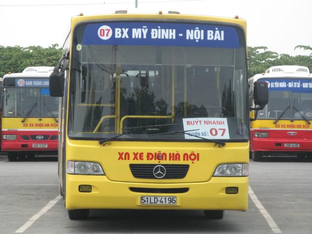 Xe buýt đi sân bay Nội Bài Hai Bà Trưng