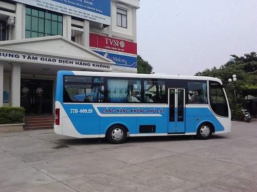 Xe buýt đưa đón tại sân bay Phù Cát