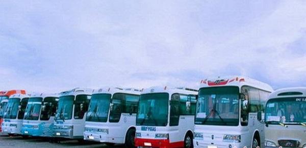 Xe đưa đón khách tại sân bay Liên Khương