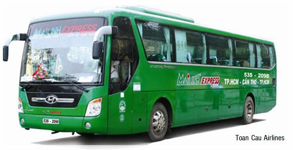 Xe đưa đón của Công ty Mai Linh