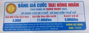 Bảng giá cước taxi Hùng Nhân - Xe đưa đón sân bay Pleiku đi Ayun Pa