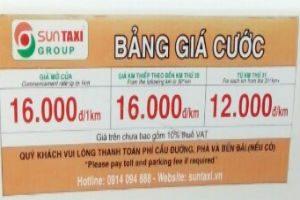 Bảng giá cước Sun Taxi - Xe đưa đón sân bay Chu Lai đi Tam Kỳ
